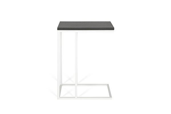 FOREST Baltas staliukas prie sofos Juodas-azuolas