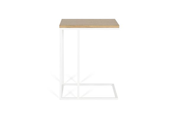 FOREST Baltas staliukas prie sofos Azuolas