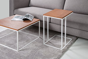 FOREST Baltas kvadratinis staliukas