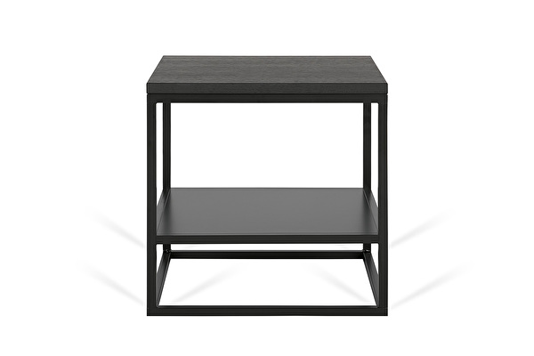 FOREST DUO šoninis staliukas Juodas-azuolas
