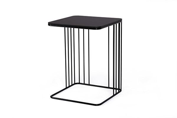 ELEGANS staliukas prie sofos Juodas-fenix