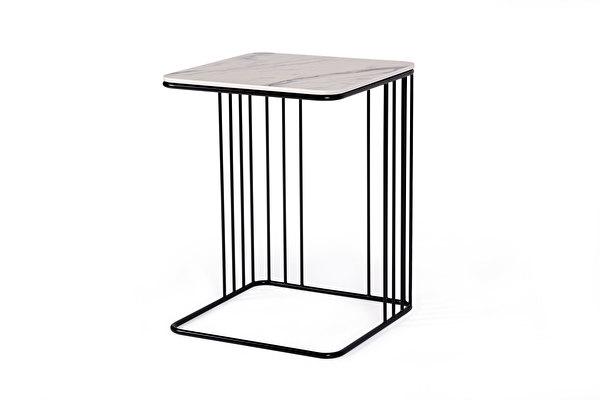 ELEGANS staliukas prie sofos Balto-marmuro-imitacijos-stalvirsis