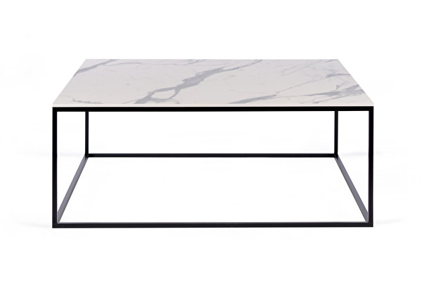 FOREST kvadratinis kavos staliukas 100 Balto-marmuro-imitacijos-stalvirsis