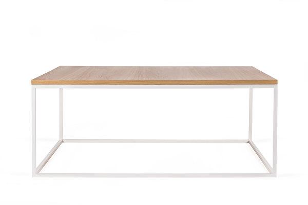 FOREST baltas kvadratinis kavos staliukas 100 Azuolas