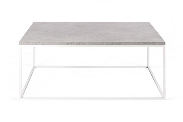 FOREST baltas kvadratinis kavos staliukas 100 Betonas