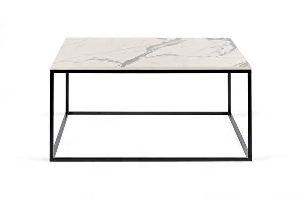 FOREST kvadratinis kavos staliukas 80 Balto-marmuro-imitacijos-stalvirsis