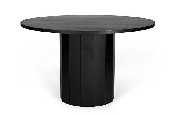 REVOLVE Valgomojo stalas Juodas-azuolas