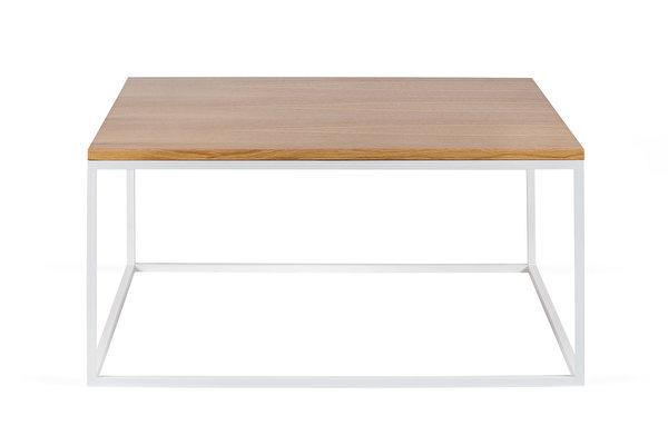 FOREST baltas kvadratinis kavos staliukas 80 Azuolas