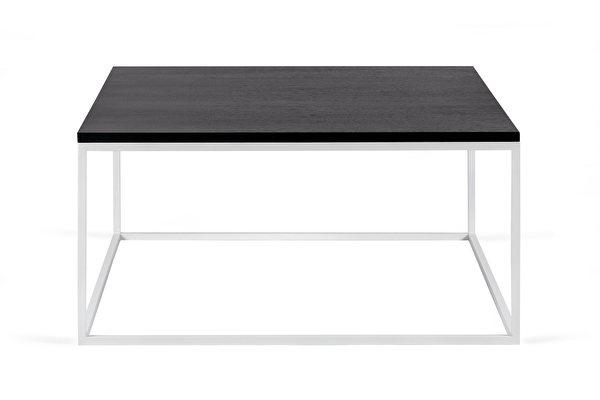 FOREST baltas kvadratinis kavos staliukas 80 Juodas-azuolas