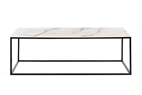 FOREST kavos staliukas ilgas Balto-marmuro-imitacijos-stalvirsis