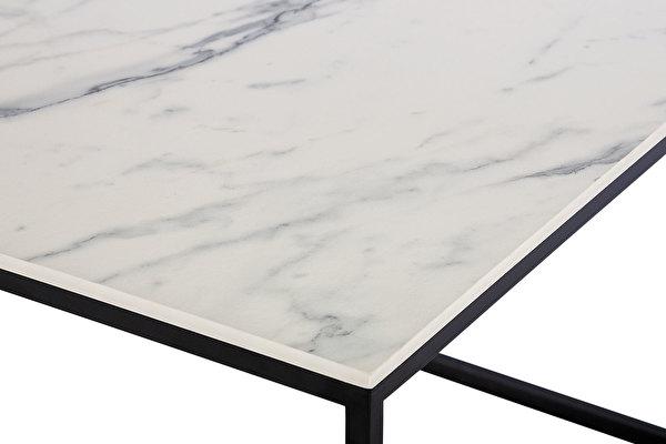 FOREST Kavos staliukas Balto-marmuro-imitacijos-stalvirsis